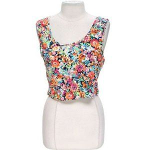 Body Central Summer Flower Tank Top